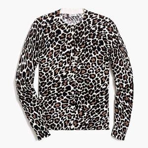 JCrew Leopard Cardigan